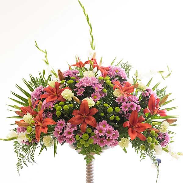 Centro pequeño de flor variada